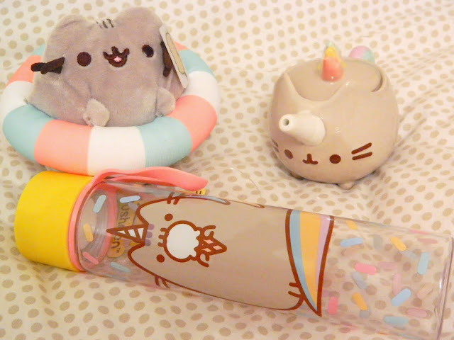 A selection of items from the Pusheen 2018 Summer Box