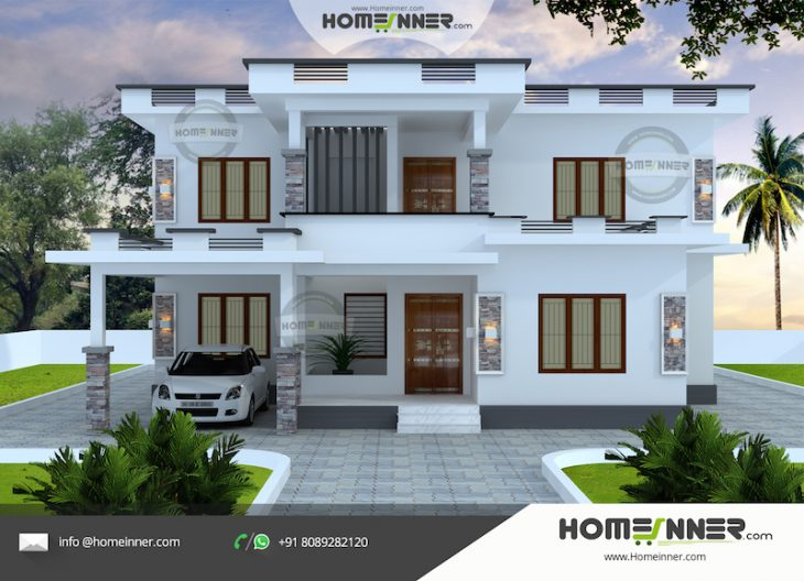 Kerala Contemporary Home Elevation Design 2163 Sq Ft