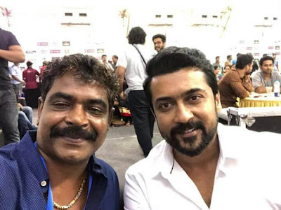 Actor Surya At Amma Film Awards selfies