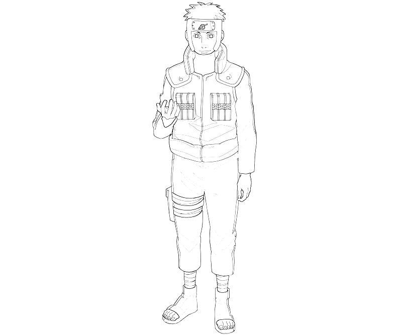 Naruto Yamato Character Art Paper