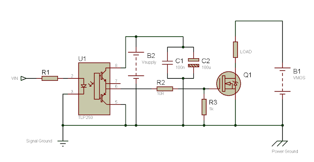 Using the TLP250 Isolated MOSFET Driver - Explanation and Example Circuits 11