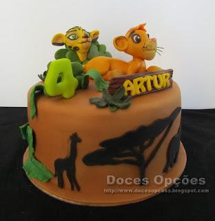 bolo selva aniversário simba