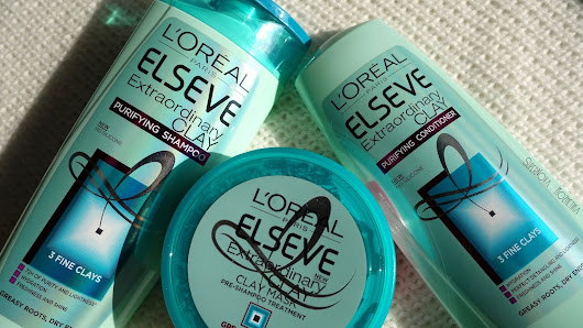 L'Oreal Elseve Extraordinary Clay - Purifying Shampoo, Conditioner & Clay Mask