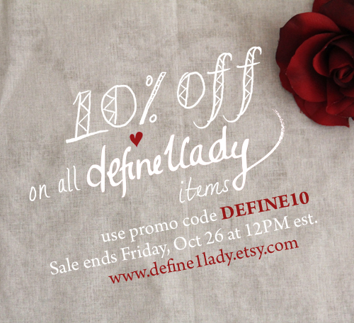 discount, sale, shop invitations, 10% sale deal at define1lady.etsy.com