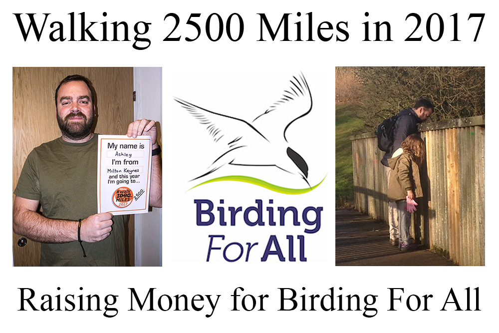 I'm Walking 2500 Miles in 2017 for Birding For All