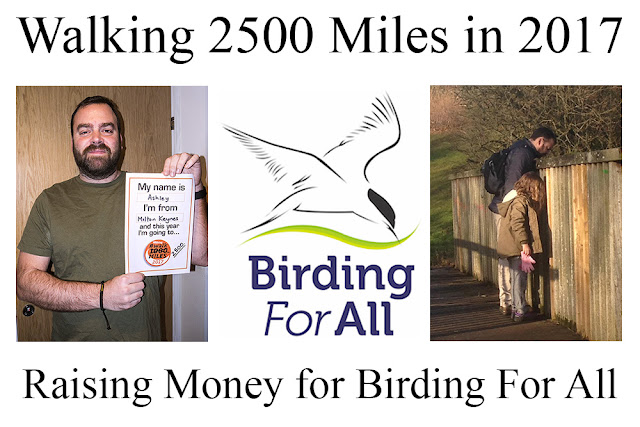 I'm Walking 2500 Miles in 2017 for Birding For All