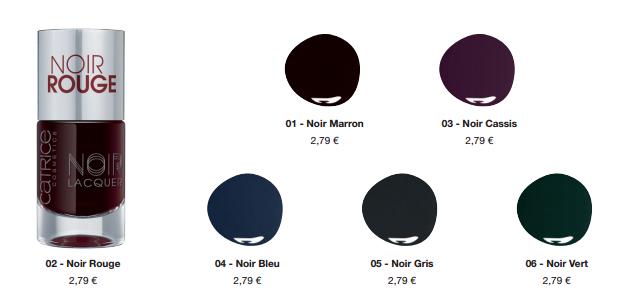 Catrice Noir Noir Lacquers