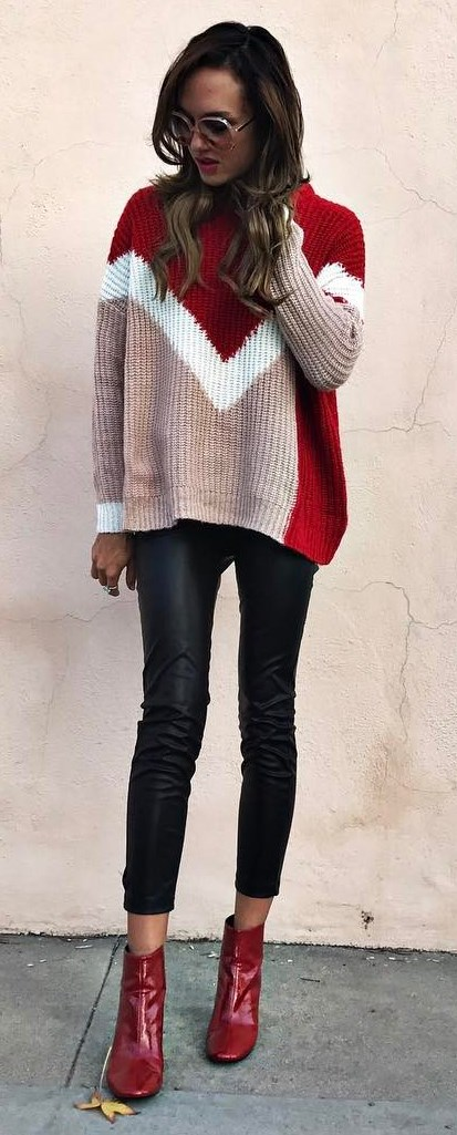 ootd: knit + skinnies + boots