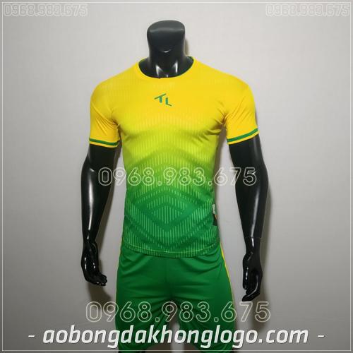 Áo bóng đá không logo TL Rius màu vàng
