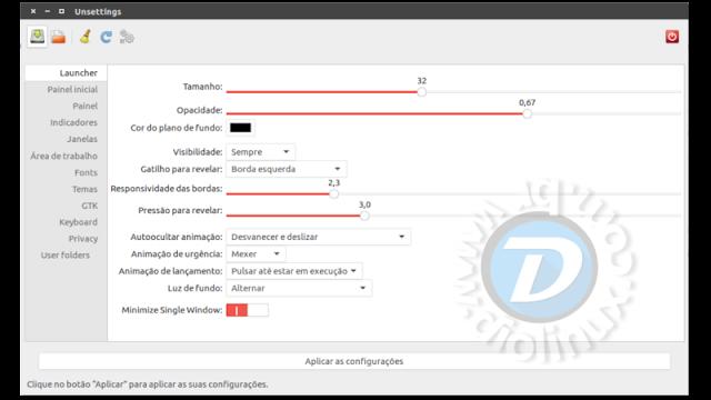Unsettings - Ferramenta para configurar o Ubuntu