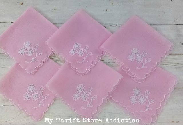 pink vintage napkins