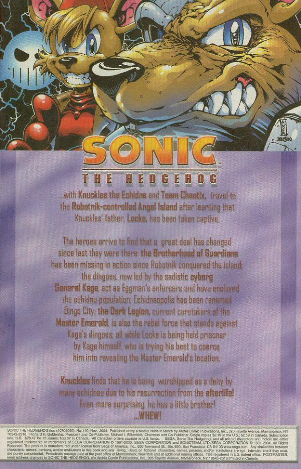 Read online Sonic The Hedgehog comic -  Issue #140 - 2