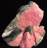 thulite crystal rough