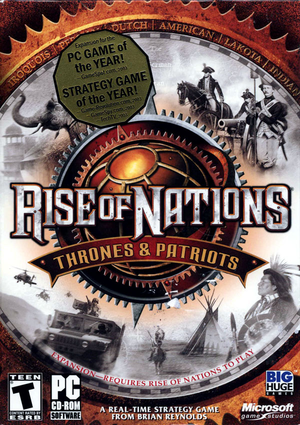 Rise of Nations Thrones and Patriots Download Cover Free Game