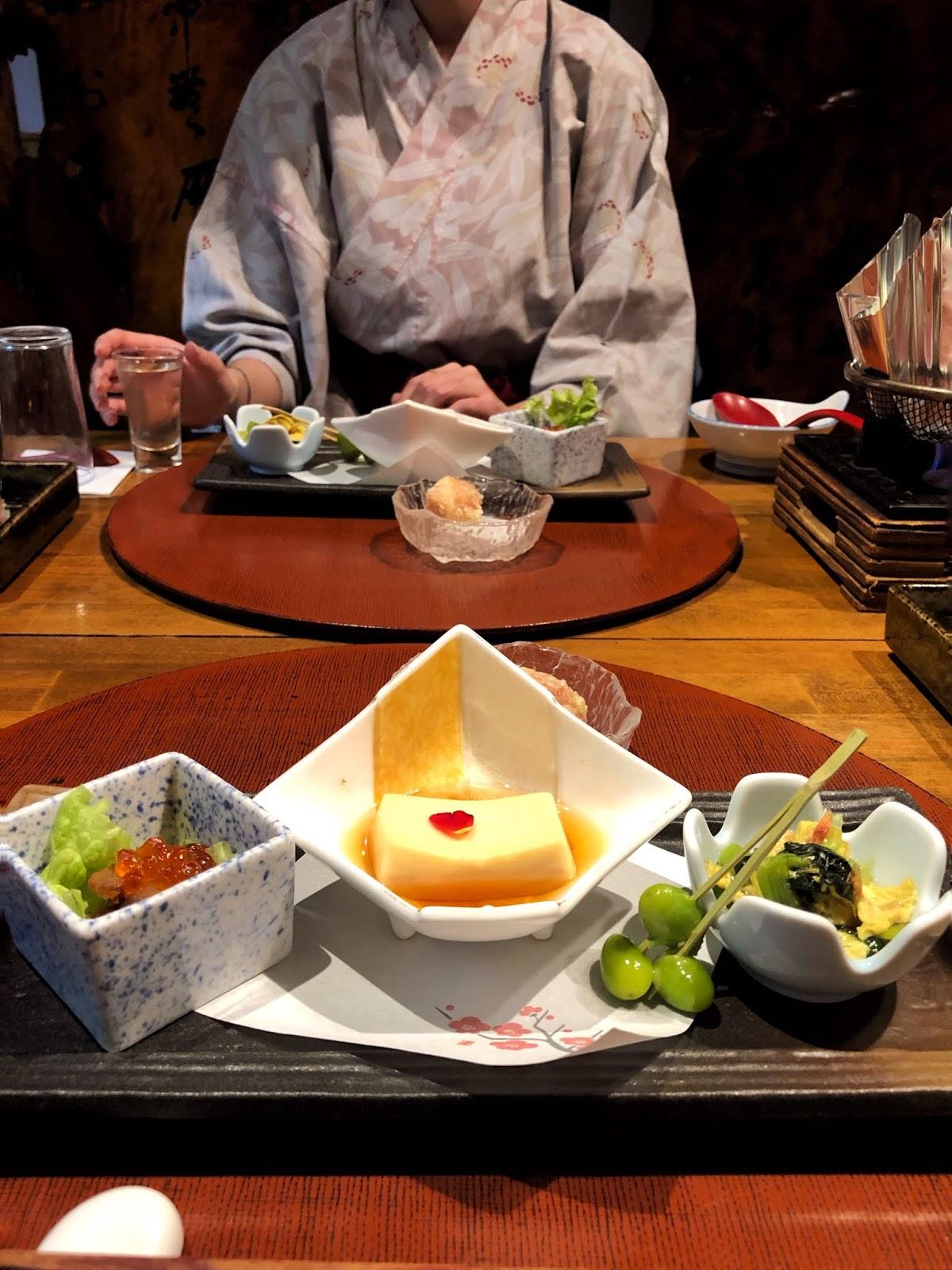 Kaiseki dinner, Biggest open-air bath onsen in Japan. Takaragawa Onsen, Minakami Gunma, Japan / FOREVERVANNY.com