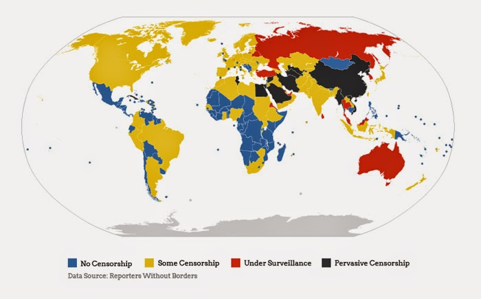 Internet censorship around the world