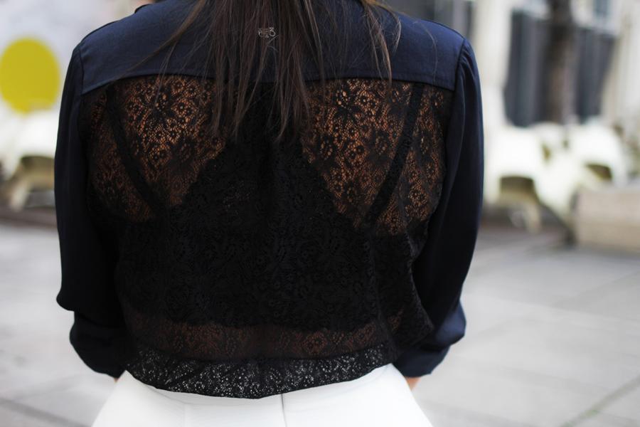 bluse cutout back side