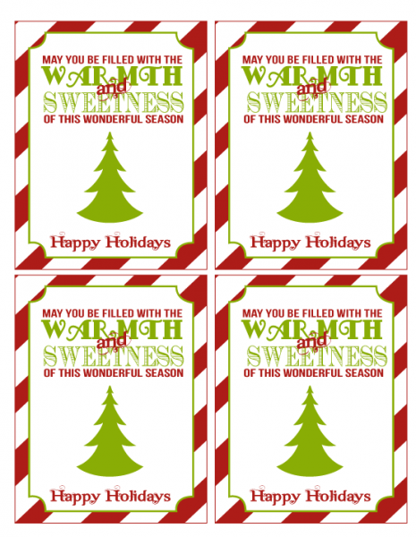 Superb image inside holiday tags printable