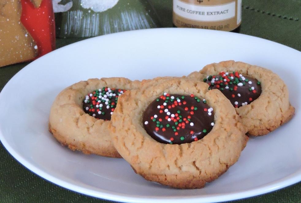 Mocha Filled Thumbprint Cookies