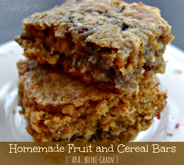 Homemade Fruit and Cereal Bars