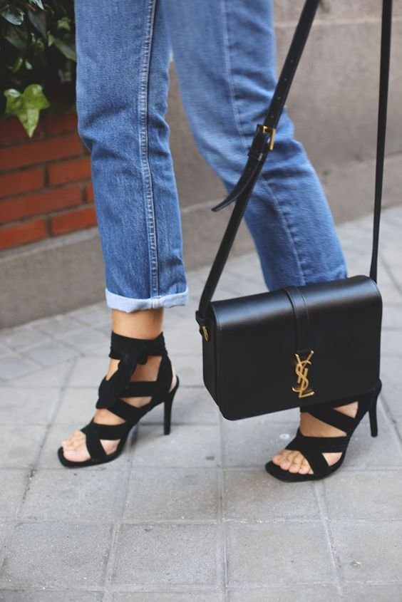 Lady Addict Saint Laurent Shoulder Bag Street Style