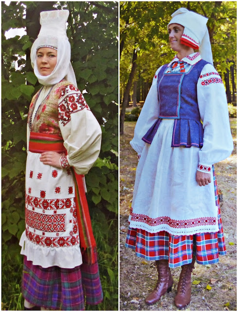traditional festive costumes of married women of Belarus
