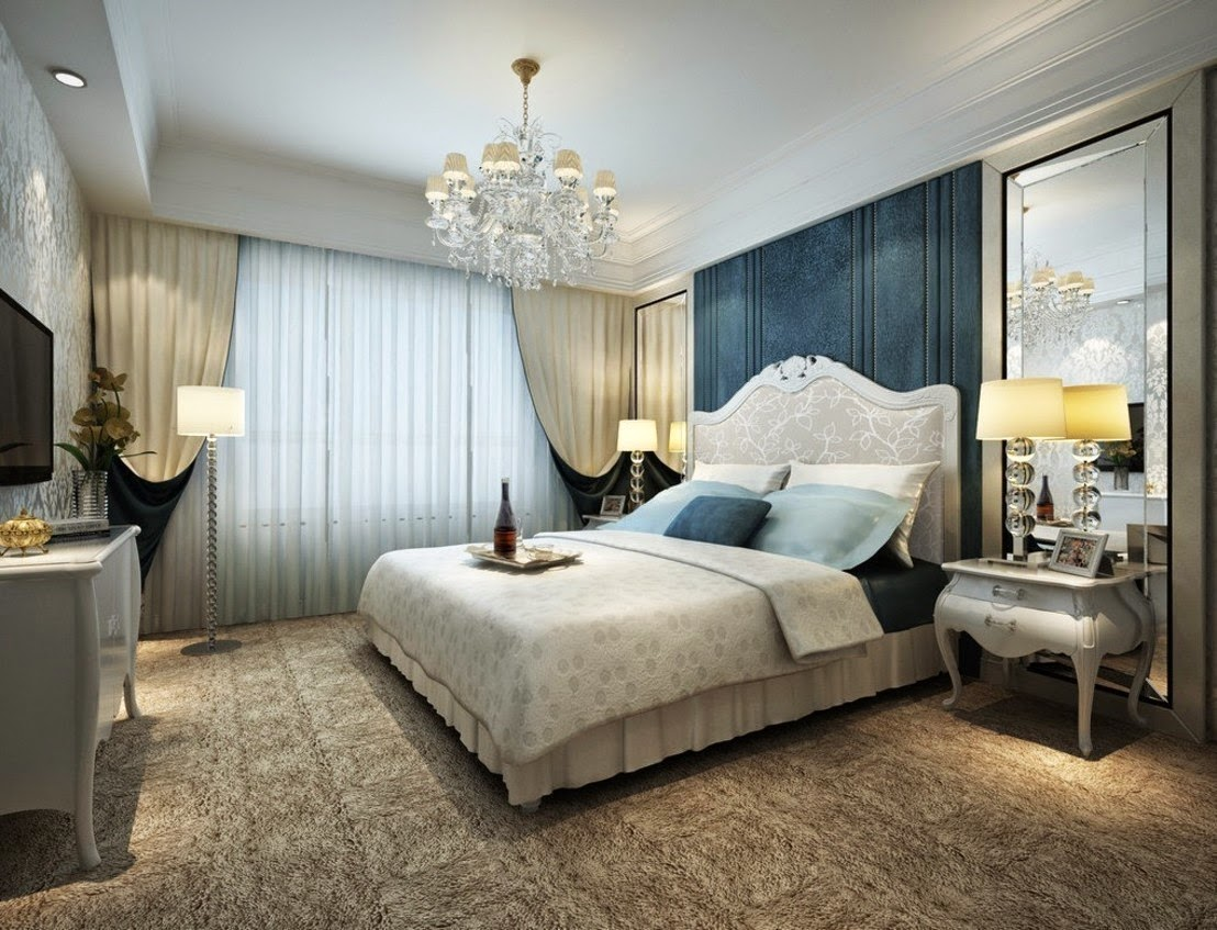 Elegant luxury bedroom ideas for furniture and design 2017
