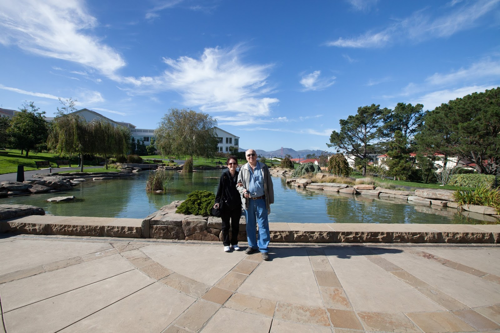 My parents on the Lucasfilm campus