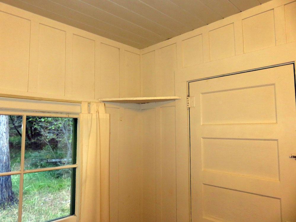 Shelf in cabin.