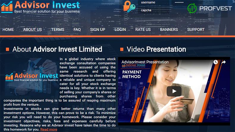 Advisor Invest обзор и отзывы наш вклад 350$