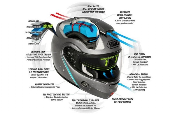 casco abatible Shoei