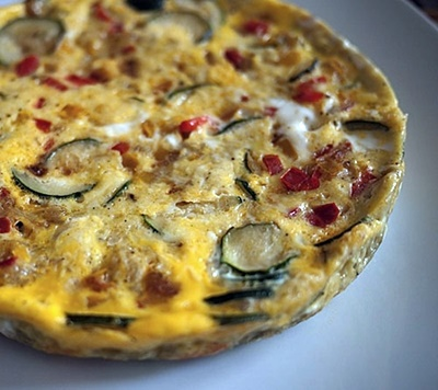 Rice Cooker Frittata With Summer Vegetables