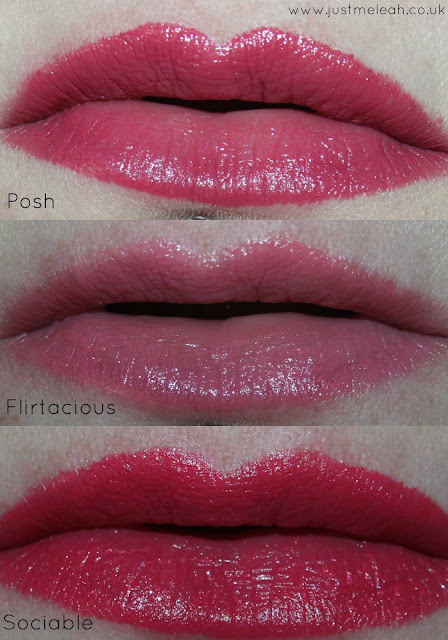 ELF Essential Lipsticks in Posh, Flirtatious & Sociable