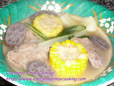 Nilagang Baka with Lotus Root Dish