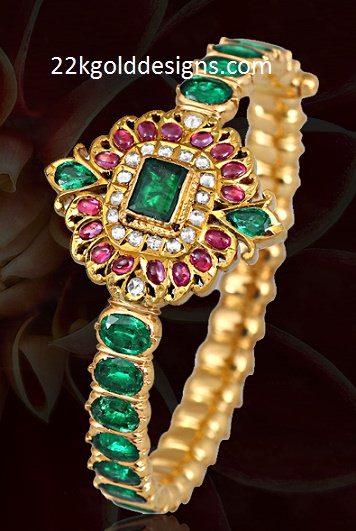 Traditional Emerald Bangle with Weight and Price