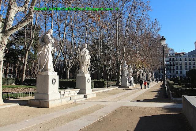 Statue, Plaza de Oriente, Madrid, Spain