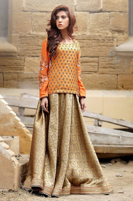 Party Wear, Party Waer Lehengas, Lehengas 2016-2017, New Summer Party Wear Designs, Women Party Wear.