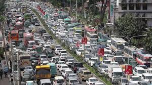 Dhaka trafic jam