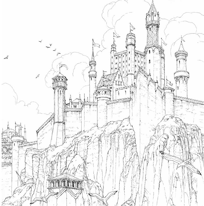 Tímida confiante : Livro de colorir de Game of Thrones