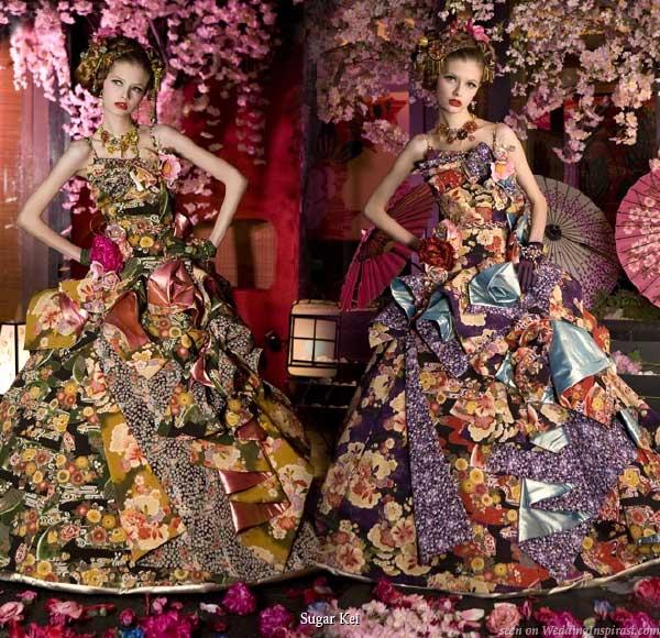 Unique Wedding Dresses With Color: Prepare Wedding Dresses: Unique Wedding Color Combinations