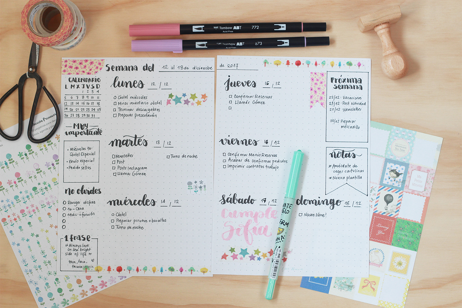Little Hannah: Descargable: una plantilla de bullet journal