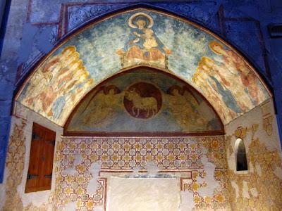 Pinturas románicas en la Seu Vella de Lleida