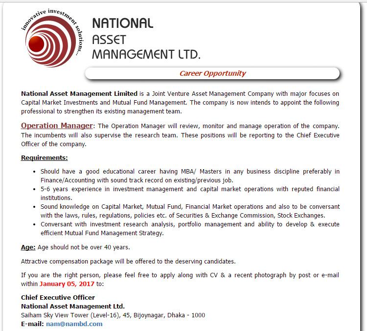 Chief Operating Officer Job Description Asset Management 9 Chief ...