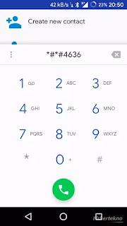 Ketik kode di aplikasi telepon