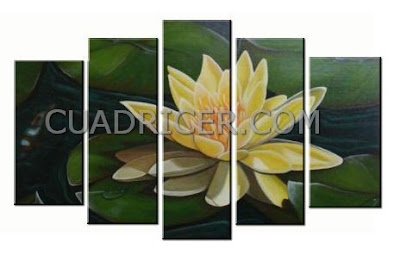 http://www.cuadricer.com/cuadros-pintados-a-mano-por-temas/cuadros-flores/nenufar-amarillo-flor-loto-espiritual-feng-shui-cuadros-modernos-2257-salones-comedores.html
