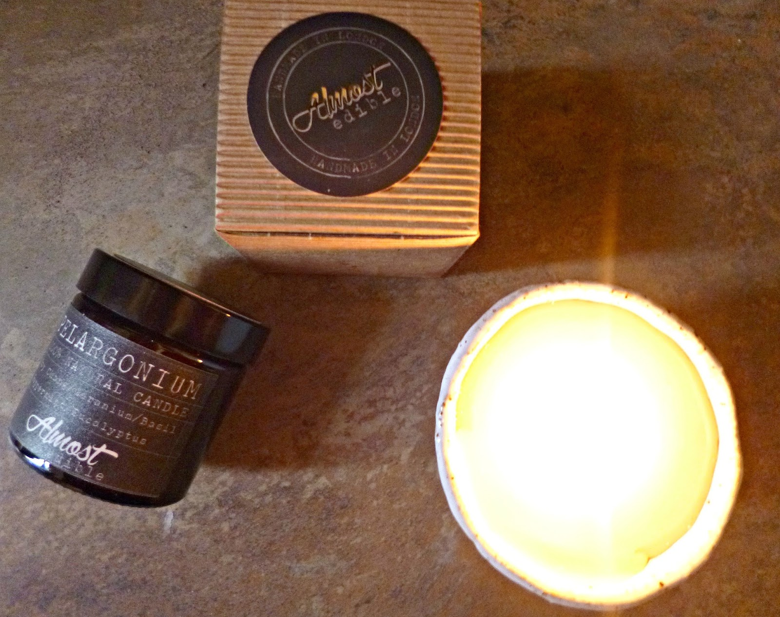 Artisan candles from Almost Edible