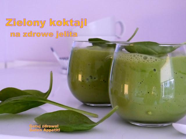 Zielony koktajl na zdrowe jelita - Czytaj więcej »