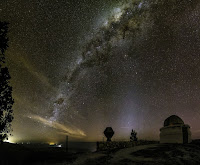 The Milky Way Galaxy over Bosque Alegre Station in Argentina