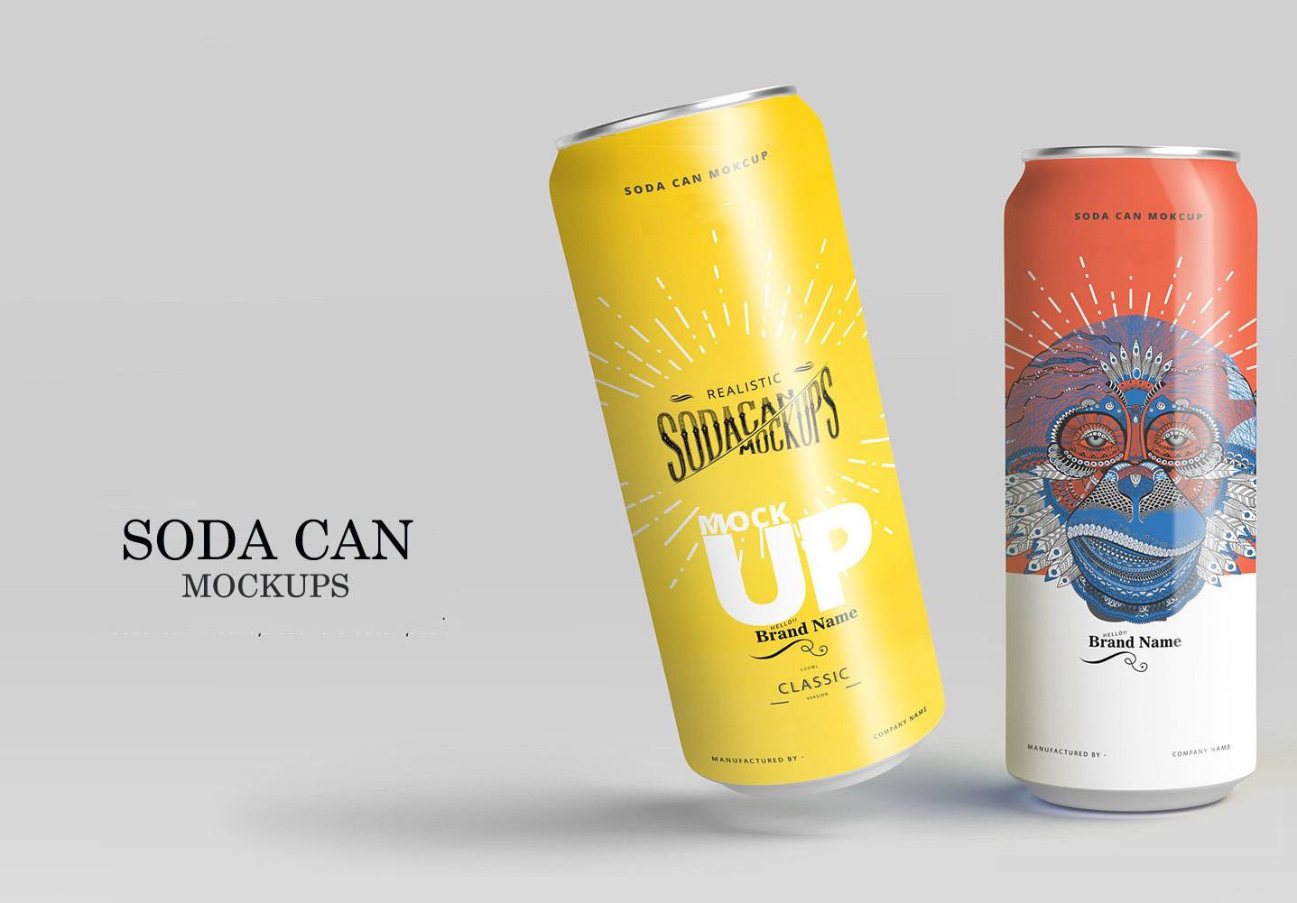 Soda Can Mockup Kit