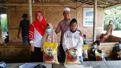 Lebaran Anak Yatim Piatu H Ahmad Supriyatno Adakan Santunan dan Bagikan Sembako
